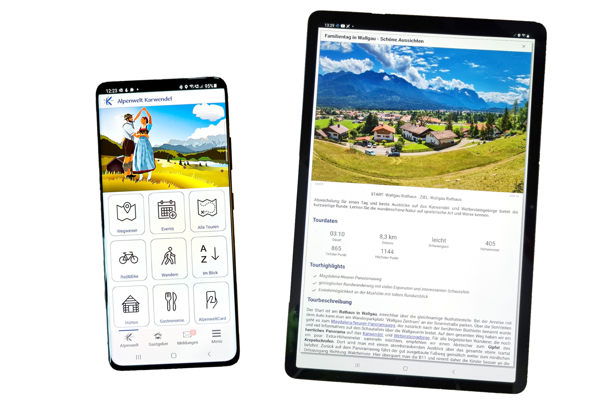 Alpenwelt Karwendel Gästemappe APP Smartphone und Tablet