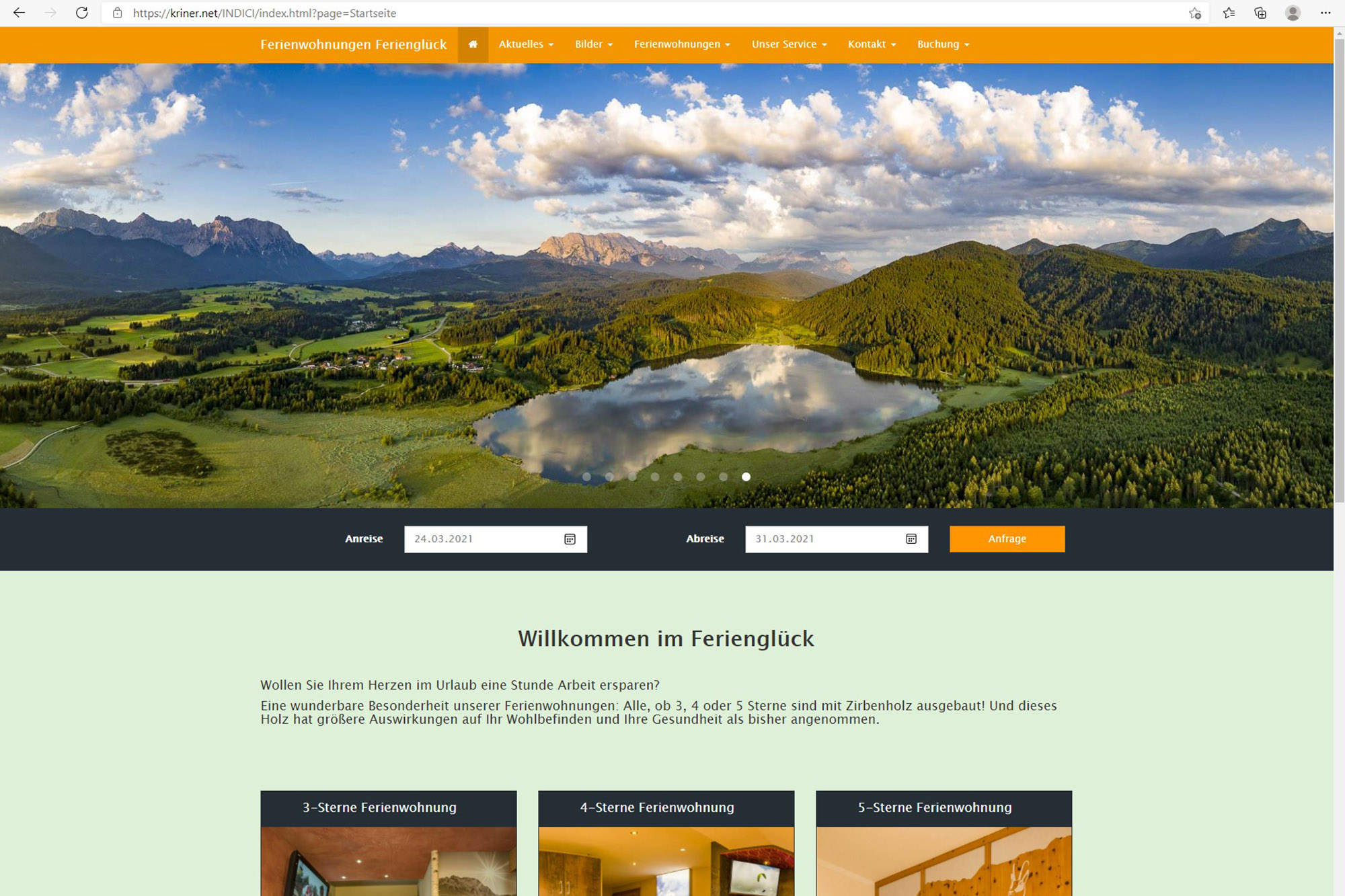 INDICI Webseite Ferienglueck